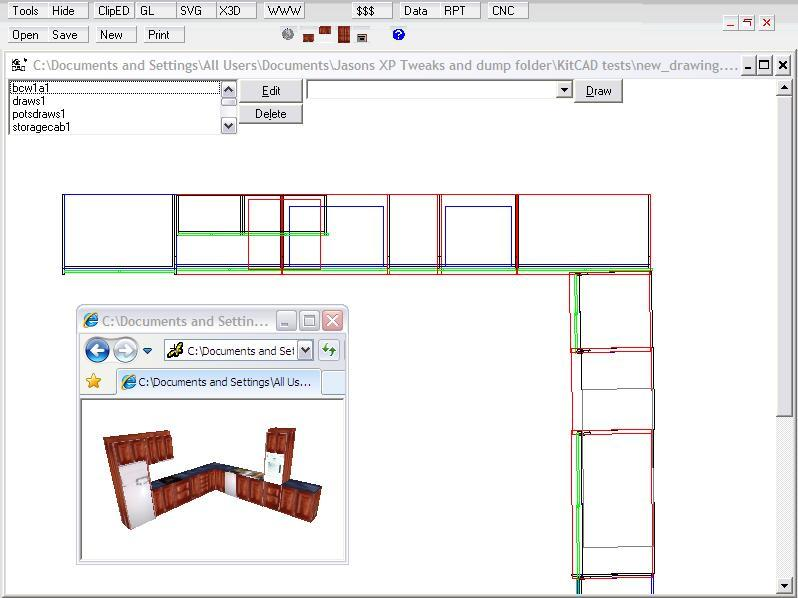 KitCAD - Free 2D and 3D Kitchen Cabinet Computer Design Software